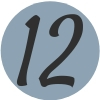 Number 12 Blue Icon