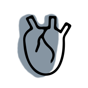 blue and black human heart icon