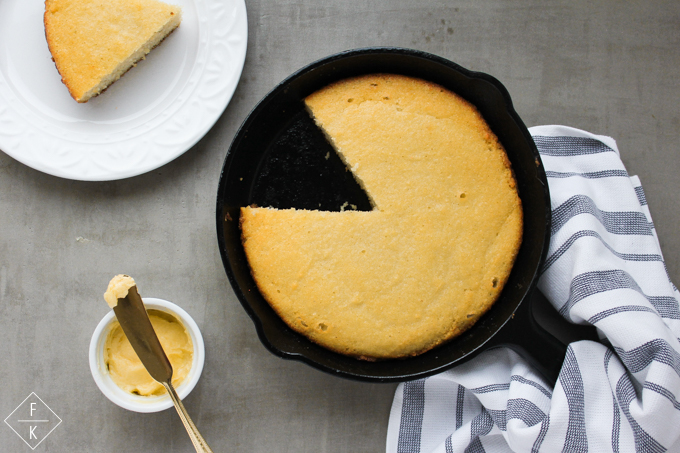 Keto Cornbread Skillet With Sugarfree Honey Butter