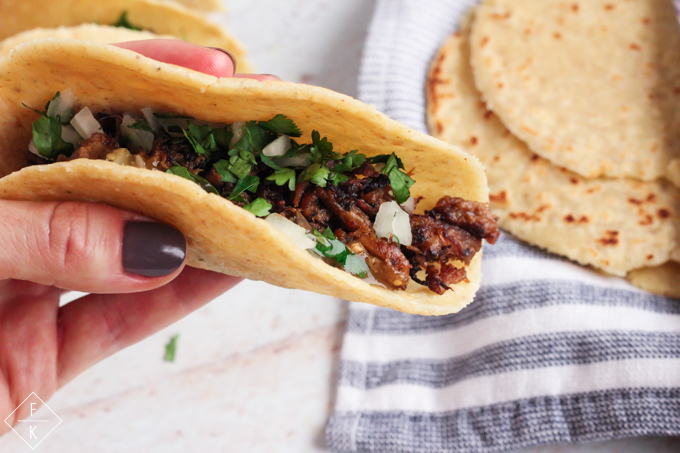 Keto Corn Tortillas With Keto Carnitas Tacos