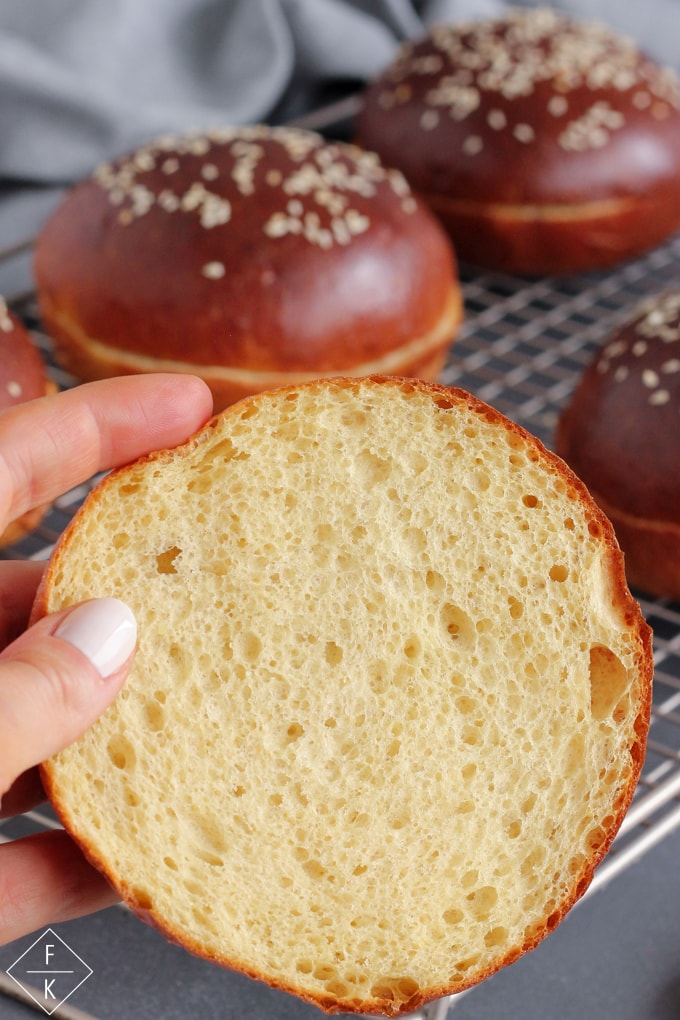 Low Carb Brioche Buns With Yeast